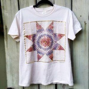Quilt Design Kansas T-shirt